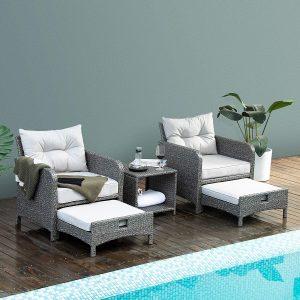 Gray Wicker Patio Furniture