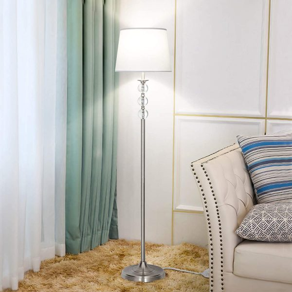 Modern Crystal Floor Lamp