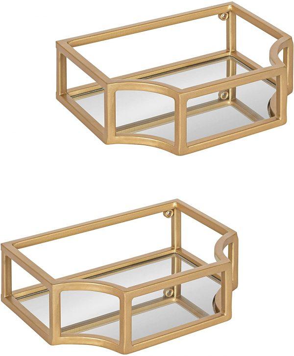 Gold Floating Shelves