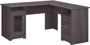 Gray L Shaped Desk