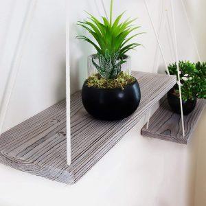 Hanging Wood Shelves