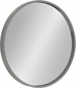Round Gray Mirror