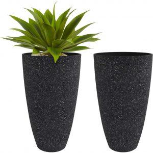 Tall Black Planters