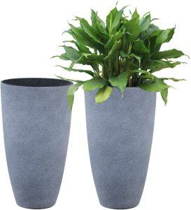 Tall Gray Planters