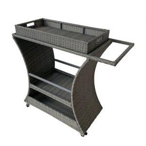 Gray Bar Cart