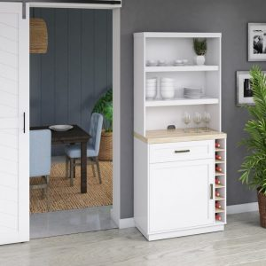 White Dining Room Hutch
