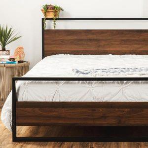 Rustic Queen Platform Bed