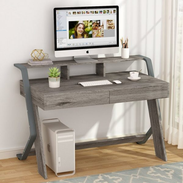 Small Gray Desk